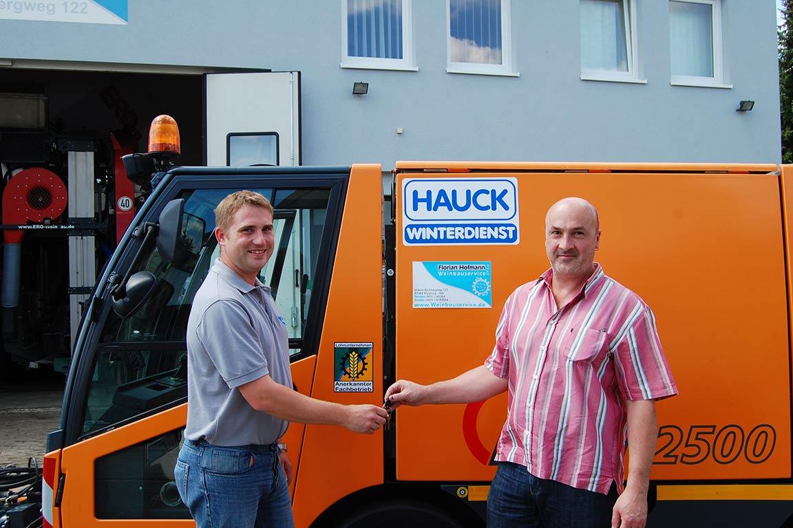 Übernahme der Firma Hauck Winterdienst im Jahr 2011