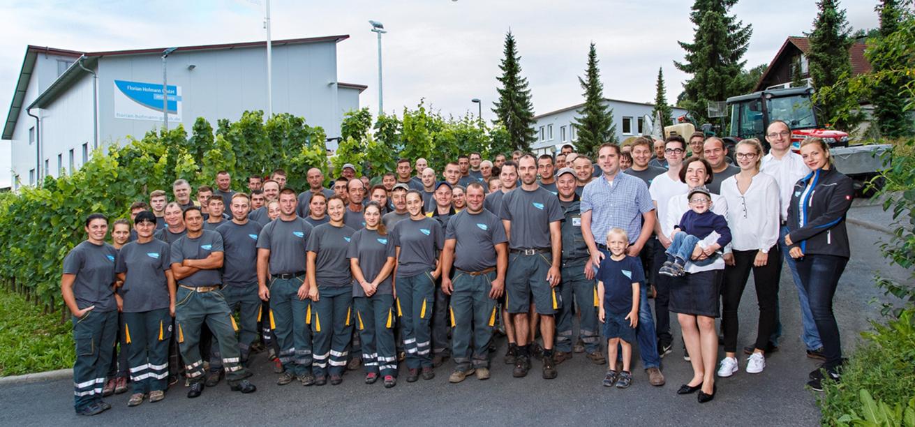Das Team der Florian Hofmann GmbH in Würzburg
